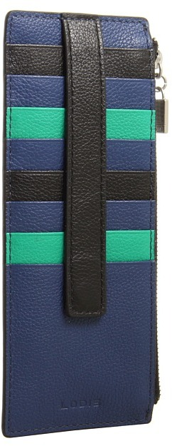 Lodis Melrose Credit Card Case with Zipper Pocket (Clover) - Bags and Luggage