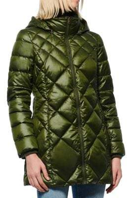 Andrew Marc Quilted Hooded Coat