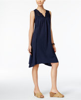 Style&Co. Style & Co Crochet-Yoke Handkerchief-Hem Dress, Only at Macy's