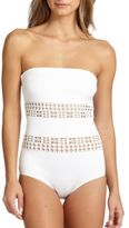 Clover Canyon One-Piece Laser Bandeau Swimsuit
