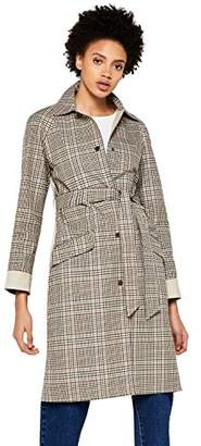 find. Women's Check Trench Coat with Solid Back,8 (Manufacturer size: X-Small)