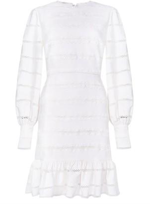True Decadence White Stripe Balloon Sleeve Mini Dress