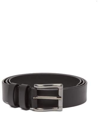 Maison Margiela Buckled Leather Belt - Womens - Black