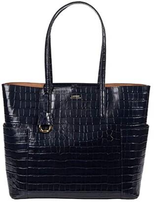 Lauren Ralph Lauren Carlyle 36 Tote (Lauren Navy) Handbags