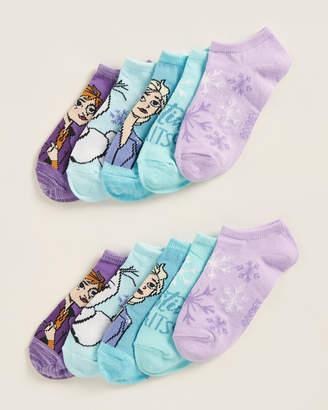 Highpoint Girls 4-6x) 5-Pack Frozen II Snowflake No Show Socks