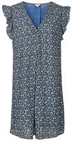 Fat Face Nicola Jaquard Floral Dress, Blue/Multi