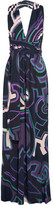 Emilio Pucci Printed Jersey Halterneck Maxi Dress - Midnight blue