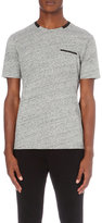 The Kooples Contrast-trim Cotton-jersey T-shirt