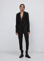 Haider Ackermann canis black / tankay black plisse blazer
