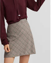 Express plaid a-line mini skirt