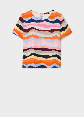 Paul Smith Women's 'Mountain Stripe' Top