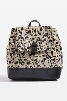 Topshop Premium Leather Pony Backpack