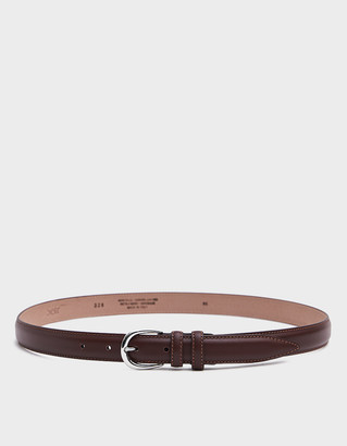 Séfr Men's Leather Belt in Brown, Size 95