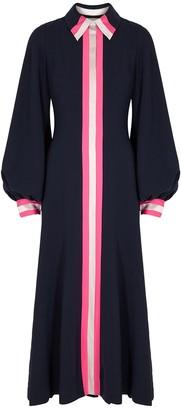 Roksanda Kabru navy striped cady midi dress