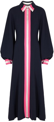 Roksanda Kabru Navy Striped Cady Midi Dress