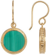 Anna Beck 18K Gold Plated Sterling Silver Malachite Drop Earrings