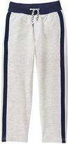 Gymboree Classic Gray Heather & Navy Side-Stripe Pants - Boys