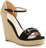 Gucci 'Carolina' Ankle Strap Wedge (Women)