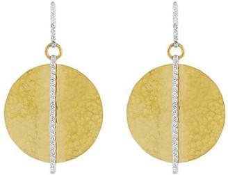 Gurhan 24kt gold diamond Lush Circle drop earrings
