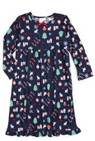 Hanna Andersson Girl's Holiday Print Flannel Nightgown