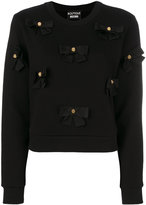 Moschino bows applique sweatshirt - women - Cotton - 38