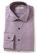Murano Slim-Fit Spread-Collar Houndstooth-Print Dress Shirt