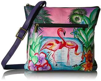 Anuschka Anna by Handpainted Leather Medium Cross Body