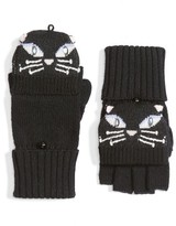 Kate Spade Women's Cat Convertible Wool Mittens