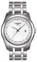 Tissot T0354101105100 Couturier Date Bracelet Strap Watch, Silver/white