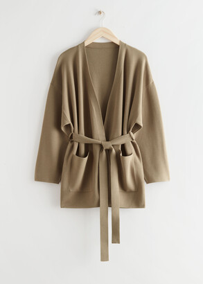And other stories Oversized Boxy Robe Cardigan