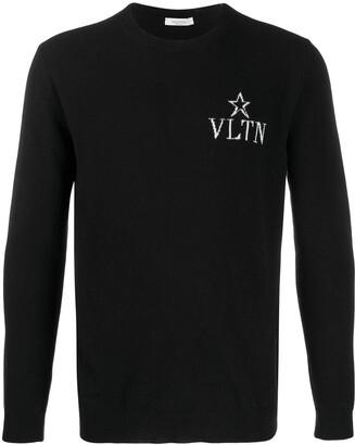 Valentino VLTN STAR crew neck jumper