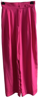 Courreges Pink Silk Trousers for Women Vintage