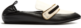 Lanvin Bi-colour leather loafers