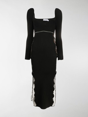 Self-Portrait Ribbed Knit Bodycon Dress