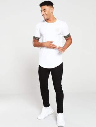 SikSilk Cartel Cuff T-Shirt - White