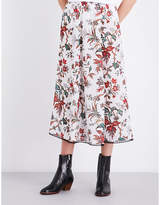 McQ by Alexander McQueen Floral-patterned chiffon skirt