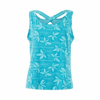 Weird Fish Artemis Bamboo Printed Vest Provincial Blue Size 12