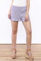Sugar Lips Textured Lavender Shorts