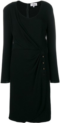 Valentino Pre-Owned Buttoned Wrap Detail Dress