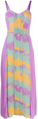 Three floor Pastel Plisse dress