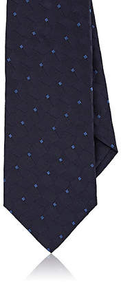 Isaia Men's Geometric-Pattern Silk Necktie - Navy