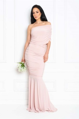 Honor Gold Alice Blush Pink Fishtail Maxi