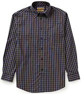 Roundtree & Yorke Gold Label Big & Tall Non-Iron Long-Sleeve Multi Mini Check Sportshirt