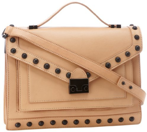 Loeffler Randall Rider NST Satchel,Natural/Black,One Size