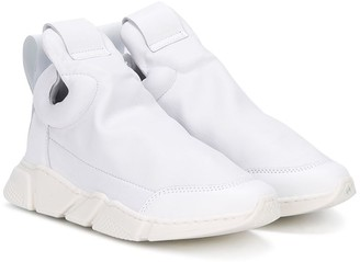 Cinzia Araia Kids round toe slip-on sneakers