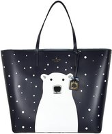 Kate Spade Len Polar Bear Cold Comforts Tote Bag Leather Handbag