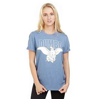 Disney Women's Dumbo Flying T-Shirt,(Size:X-Large)