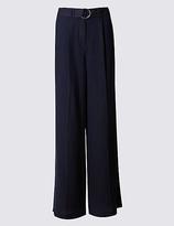 M&S Collection Linen Rich Wide Leg Trousers