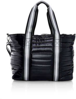 Think Royln Wingman Metallic Quilted Tote
