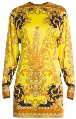 Versace Femme Baroque Jersey Shift Dress